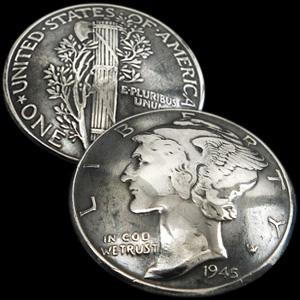 (アメリカ)オールドマーキュリーコインコンチョ1916~1945年