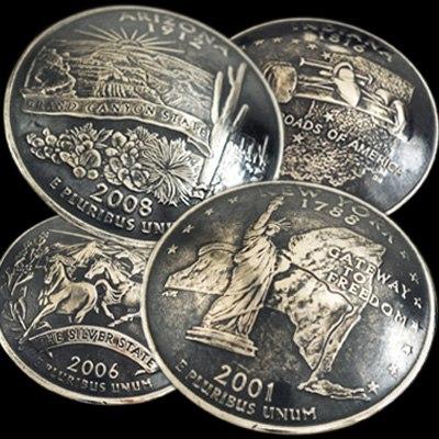 (アメリカ)米国各州のニッケルコインコンチョ