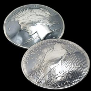 (アメリカ)オールドシルバーピースコインコンチョ