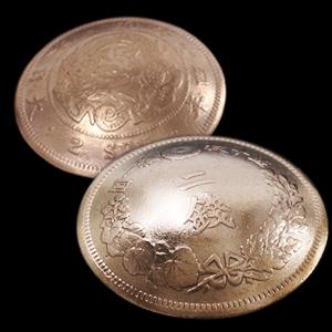 竜2銭銅貨