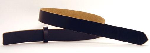 LCブラックサーファスレザーベルト・25S 長さ105cm<巾2.5cm(2.4cm実寸巾)>