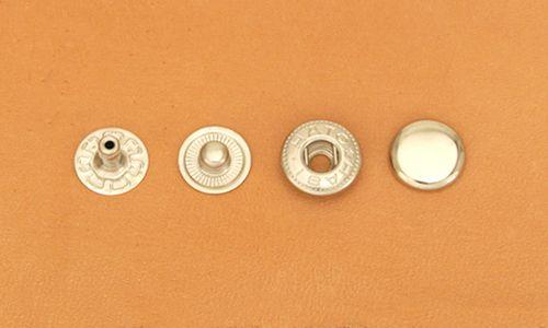 (B2)真鍮製バネホック<小>No.1 ニッケルメッキ