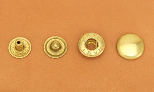 (B5)真鍮製バネホック<大>ソリッドブラス・バレルあり
