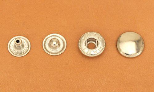 (B6)真鍮製バネホック<大>No.5 ニッケルメッキ