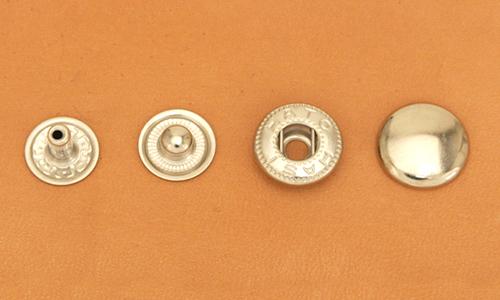 まとめ買い(B6)真鍮製バネホック<大>ニッケルメッキ