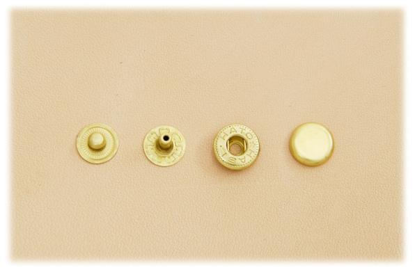 (B7)真鍮製バネホック<小>No.1 ソリッドブラス・素仕上げ