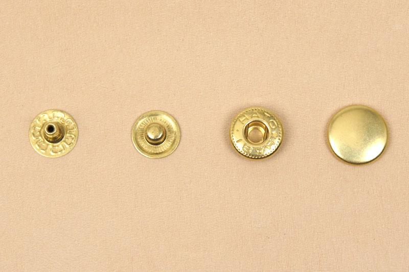 (B8)真鍮製バネホック<中>No.2 ソリッドブラス・素仕上げ