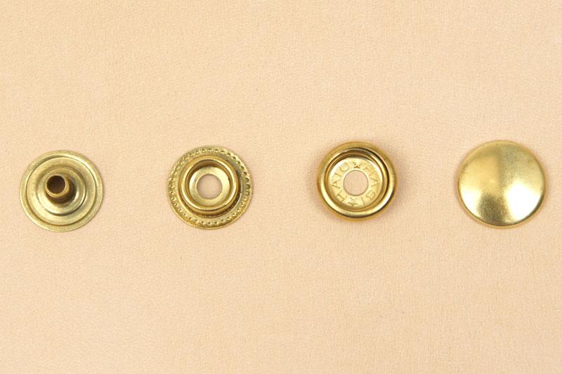 (J5)真鍮製ジャンパーホック<小>7060 ソリッドブラス・素仕上げ(10コ入り)