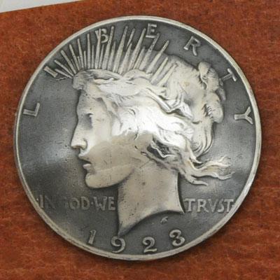 オールドシルバーピースコインコンチョ1922年~<時価>(いぶし銀)<VG>ネジ式