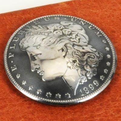 モーガンコインコンチョ1890-1899(いぶし銀)BUネジ式