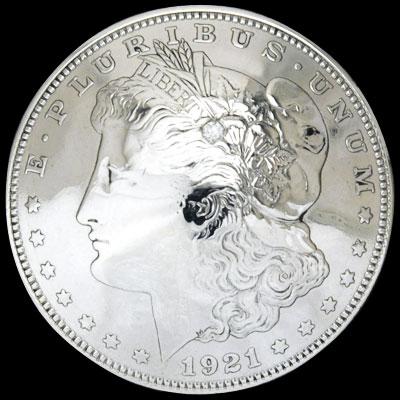ダイヤモンド2mm1個入りオールドモーガンコインコンチョ1921ボタンループ式