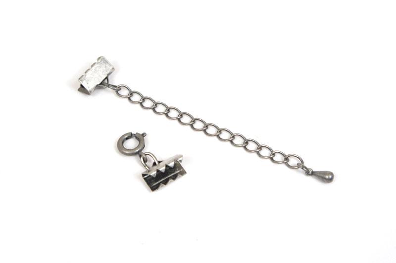 ブレスレット金具セット・銀古美(10mm)