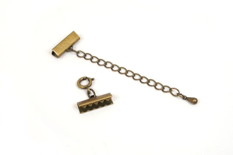 ブレスレット金具セット・金古美(15mm)