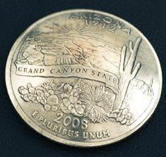 アリゾナ州クウォーターニッケルコインコンチョ ネジ式