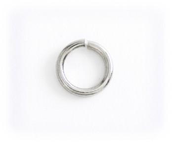 丸カン真鍮製(ニッケルメッキ)内径8mm<10個入り>