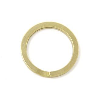 真鍮製・二重リング平/25mm<真鍮>1コ