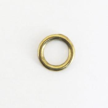 真鍮製イモノ丸カン(12 mm)<ブラス>2コ