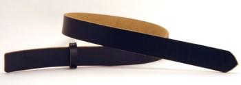 LCブラックサーファスレザーベルト・25L 長さ130cm<巾2.5cm(2.4cm実寸巾)>