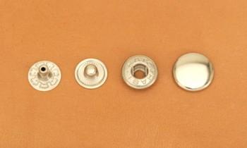 (B4)真鍮製バネホック<中>No.2 ニッケルメッキ