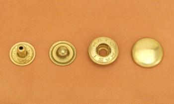 (B5)真鍮製バネホック<大>No.5 ソリッドブラス・バレルあり