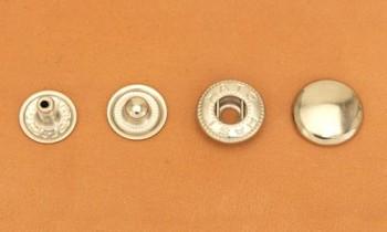 (B6)真鍮製バネホック<大>ニッケルメッキ