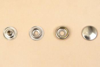 (J1)真鍮製ジャンパーホック<小>7060 ニッケルメッキ(10コ入り)
