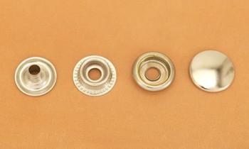 (J2)真鍮製ジャンパーホック<大>7050 ニッケルメッキ(10コ入り)