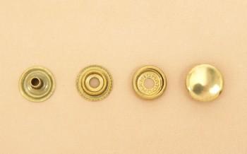 (J3)真鍮製ジャンパーホック<小>7060 ソリッドブラス・バレルあり(10コ入り)