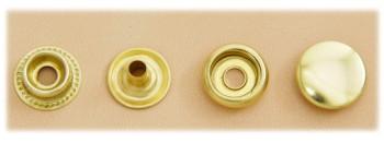 (J6)真鍮製ジャンパーホック<大>ソリッドブラス・素仕上げ(10コ入り)