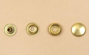 (J7)真鍮製ジャンパーホック足長<小>7060 ソリッドブラス・素仕上げ(10コ入り)