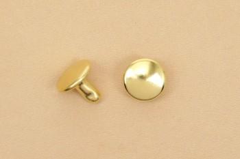 (K3)両面カシメ ソリッドブラス真鍮磨き仕上げ <中>