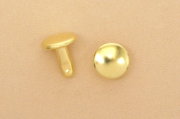 (K4)両面足長カシメ ソリッドブラス真鍮磨き仕上げ <中>
