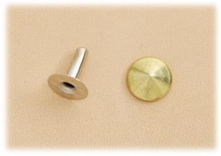 丸ピラミッドカシメ大(真鍮製)<10mm>10コ入
