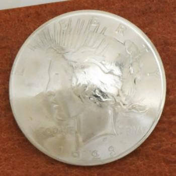 オールドシルバーピースコインコンチョ1922年~<時価><VG>ネジ式