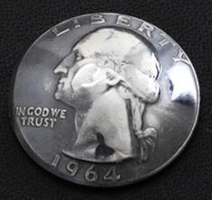ワシントン コインコンチョ(いぶし銀) ボタンループ式
