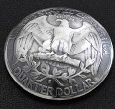 ワシントンイーグル コインコンチョ(いぶし銀) ボタンループ式
