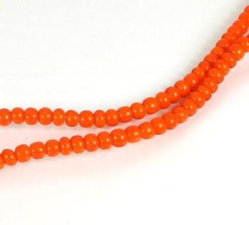 ホワイトハートトレードビーズ<オレンジ>5~6mm(5個入り)