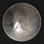 エリザベス二世・ニュージーランド20セント白銅貨 コンチョ