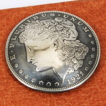 オールドモーガンコインコンチョ1921年(いぶし銀)VFネジ式