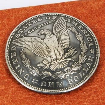 オールドモーガンコインコンチョ<イーグル>1921年(いぶし銀)VFネジ式