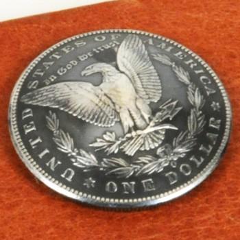 モーガンコインコンチョ<イーグル>1890-1899(いぶし銀)BUネジ式