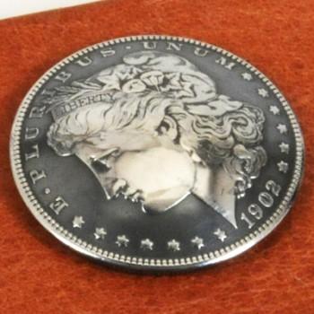 モーガンコインコンチョ1902(いぶし銀)BUネジ式