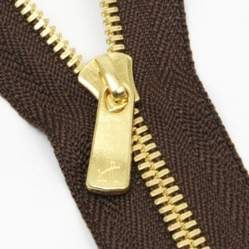 YKKファスナー<EXCELLA>3号 18cm(金具:ゴールデンブラス)(5本)