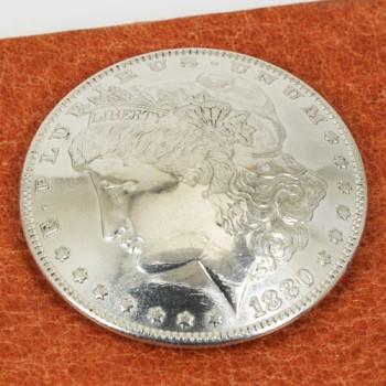 オールドモーガンコインコンチョ1878~1902年 サーキュレイテッド ランクA ネジ式(1891年)