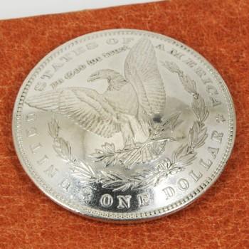 オールドモーガンコインコンチョ<イーグル>1878~1902年 サーキュレイテッド ランクA ネジ式(1889年)