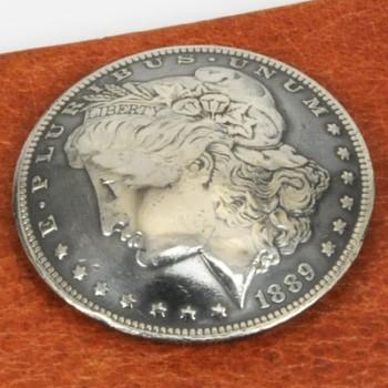 オールドモーガンコインコンチョ1878~1902年(いぶし銀) サーキュレイテッド ランクA ネジ式(1897年)