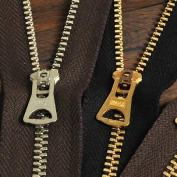 YKKファスナー<OLD AMERICAN>3号 12cm (金具:ゴールド)(GSN84UNV8スライダー)(5本まとめ買い)