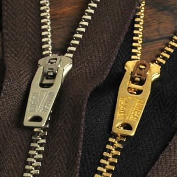 YKKファスナー<OLD AMERICAN>3号 16cm (金具:ゴールド)(GSN64OAZ9スライダー)(5本まとめ買い)