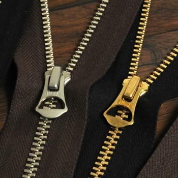 YKKファスナー<OLD AMERICAN>5号 40cm (金具:ゴールド)(GAOAZ6スライダー)