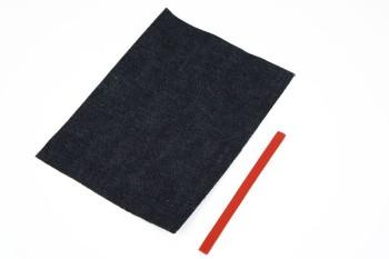 岡山デニム&Leather・ポケットティッシュケースキット・栃木レザー・クラシックヌメ